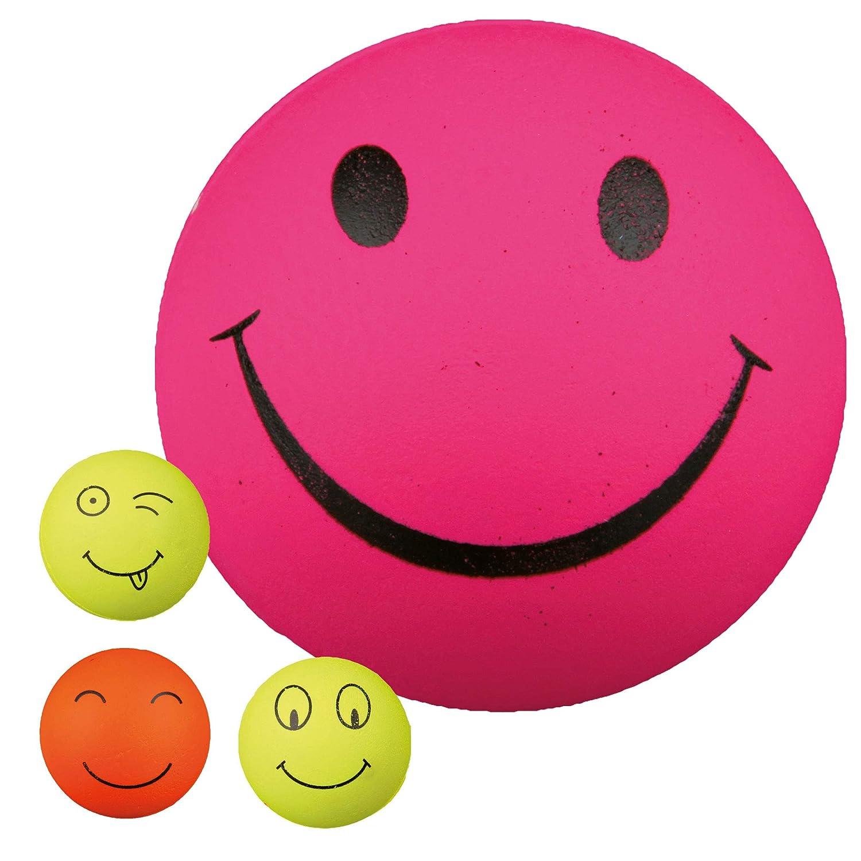 4 Pelotas Smiley Gomaespuma 6 cm TRIXIE juguete para perros ...