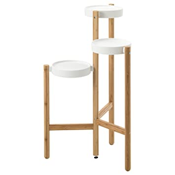 Ikea Plant Stand Bamboo White 1026172652218