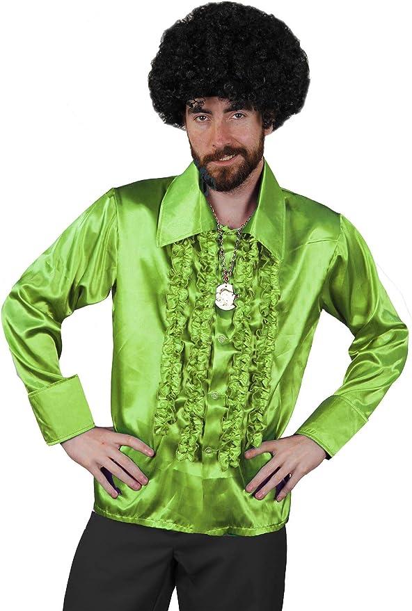 I LOVE FANCY DRESS LTD Camisa DE Disco Verde para Adulto Estilo AÑOS 70S Fiestas TEMATICAS O Carnaval (XXL): Amazon.es: Juguetes y juegos