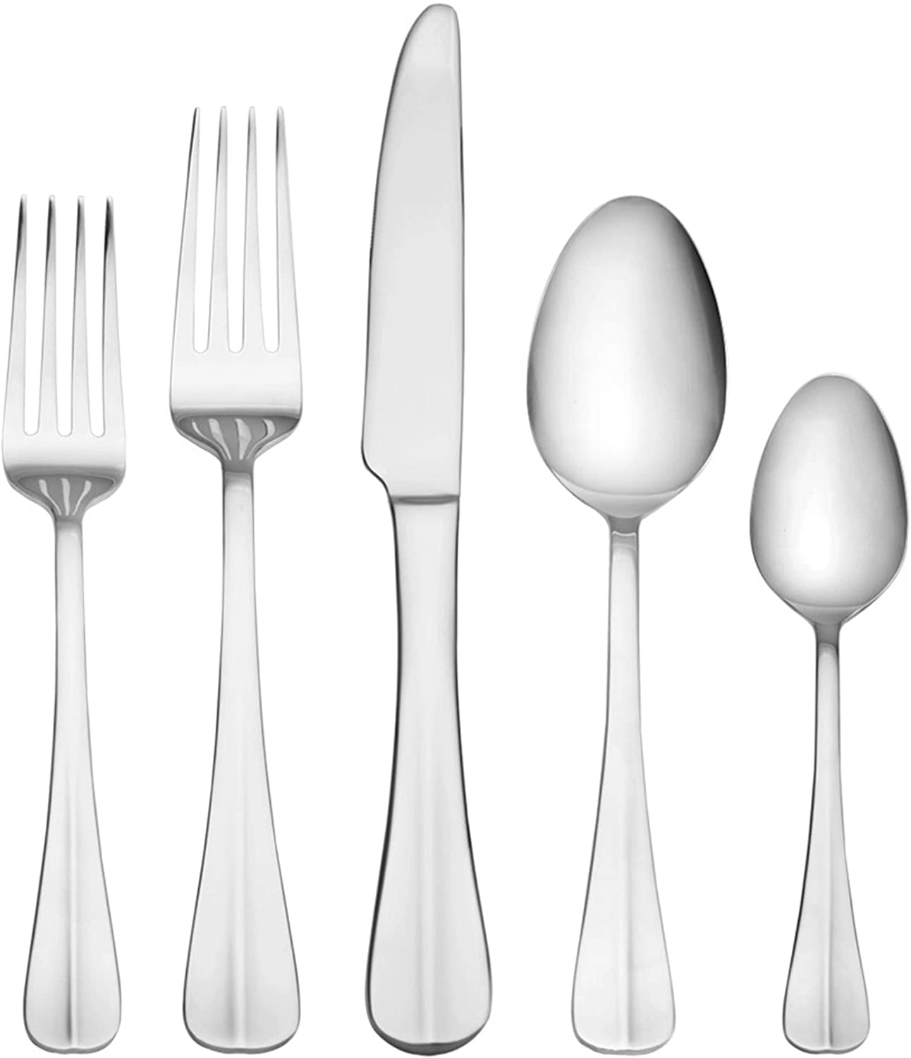 International Silver Simplicity 53-Piece Stainless Steel Flatware Set with Serving Utensil Set, Service for 8