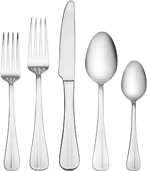 53-Piece International Silver Simplicity Stainless Steel Flatware Set