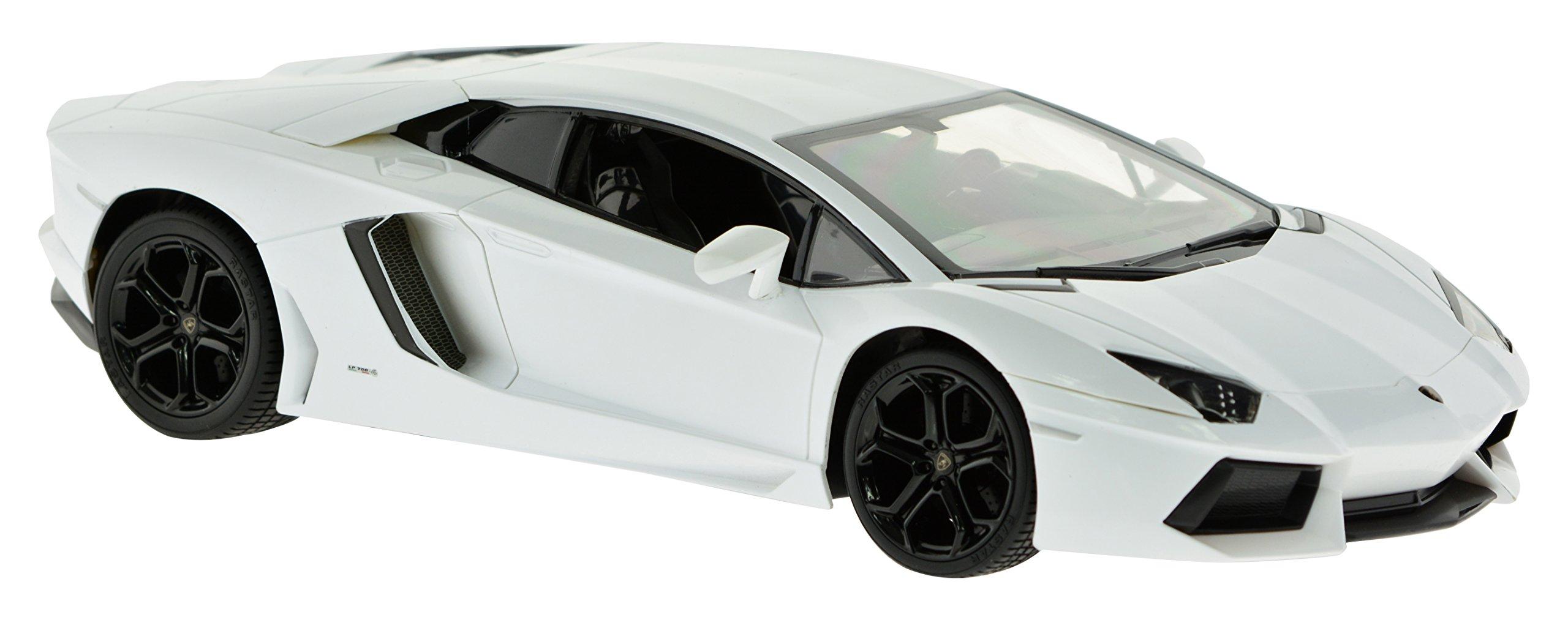 Carmel 1:14 Lamborghini Aventador Lp700 2.4Ghz with Lights Rechargeable Battery, White