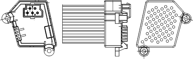 BEHR HELLA SERVICE 5HL 351 311-521 Regulador, ventilador habitáculo