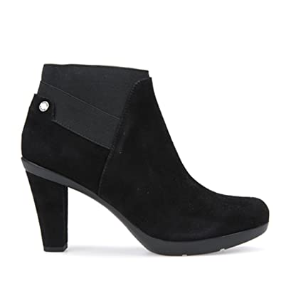 Geox Women's Inspiration Ankle Boot in Black Suede: Amazon