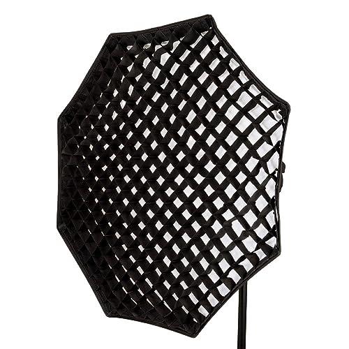 "PIXAPRO 120cm 47.2"" Studio Strobe Flash Octagon Softbox for Elinchrom with Honeycomb Egg Crate Grid Soft Diffuser *Fast Delivery *UK Stock *VAT Registered (120cm, Fitting - Elinchrom)"