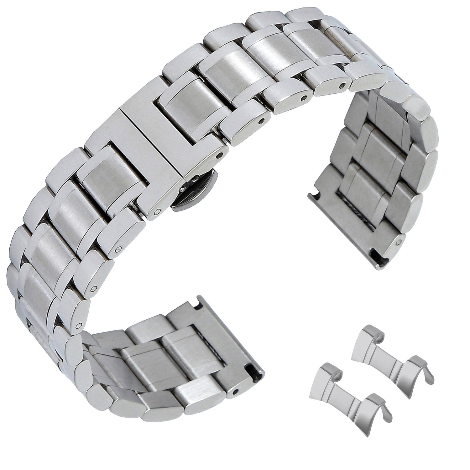 19mm Stainless Steel Watch Bands Replacement Strap Clasp Strap Bands Strap Watchband Strap Wristband