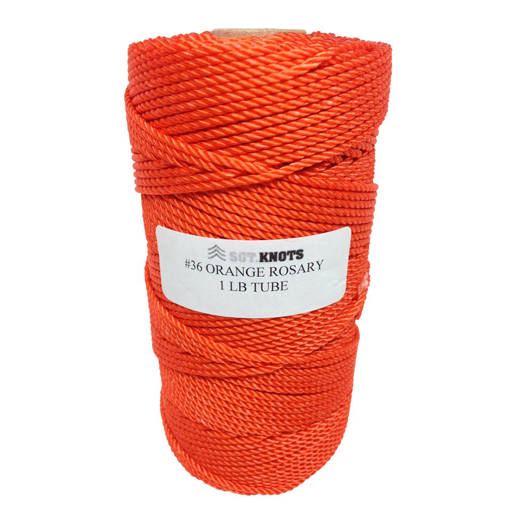 Rosary Twine #36 (2.16 mm) - SGT KNOTS - 3 Strand Twisted Nylon Crafting Twine Made for Rosaries - Easy to Work With, Soft, Even Consistency, Holds Knots - Classes, Crafts, DIY (486 ft - Golden Tan)