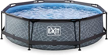 EXIT Stone Pool ø300x76cm with Filter Pump - Grey - Piscina ...