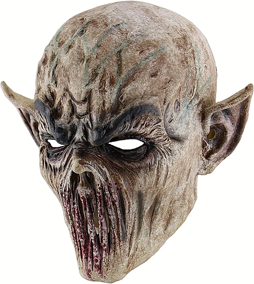 3D Realistic Demon Goat Mens Half Face Mask Masquerade Halloween Cosplay Mask x1