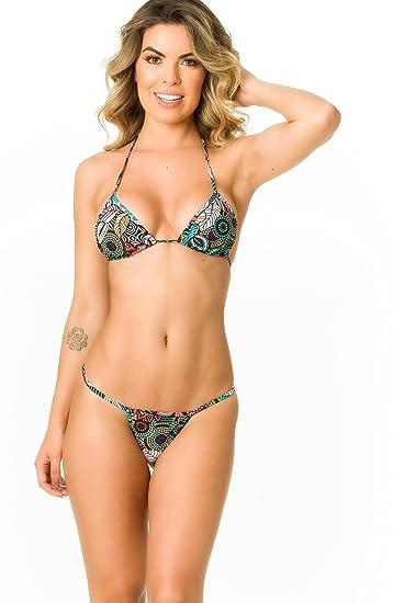 435c28c1fb0 THE MESH KING Coqueta Swimwear Women Sexy G-String Teeny Mini Brazilian  Bikini Thong Swimsuit