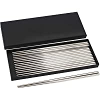 Bingolar 304 Palillos de Metal de Acero Inoxidable,Palillos