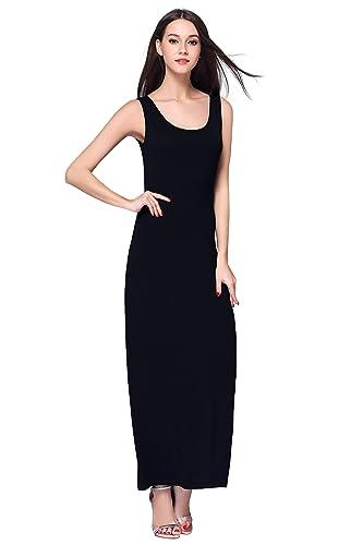 HIKA Women's Casual Sleeveless Tank Top Long Maxi Dress
