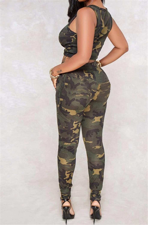 women 2 piece camouflage print tracksuit women crop top and pants set track suit