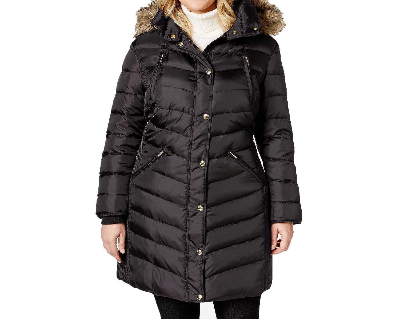 9b0059cac36 Amazon.com  Michael Kors Plus Size Knee-Length Down Coat  Clothing
