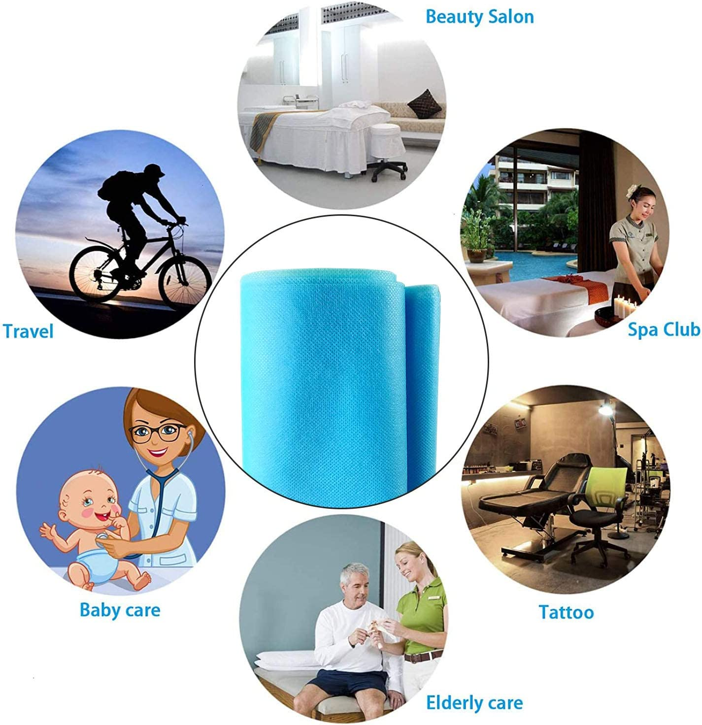 DIY Handmade Material WFB20004 Cloth Disposable Waterproof Non-Woven Fabric 20m//787.40in 95/% Polypropylene Fabric Necessities Thickened Disposable Non-Woven Fabric