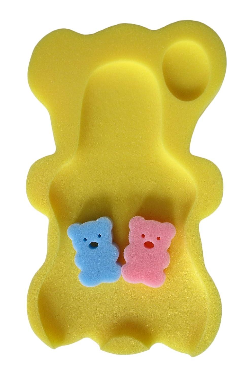 La Vogue Esponja de Baño Asiento de Bebé Soporte Sillita 50.5×31×4CM Amarillo