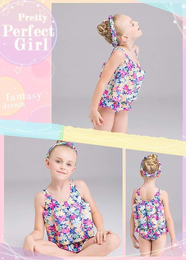 Miyanuby Costume Galleggiante per Bambini Galleggiante da Allenamento Staccabile Costume da Bagno Swimwear Infantile