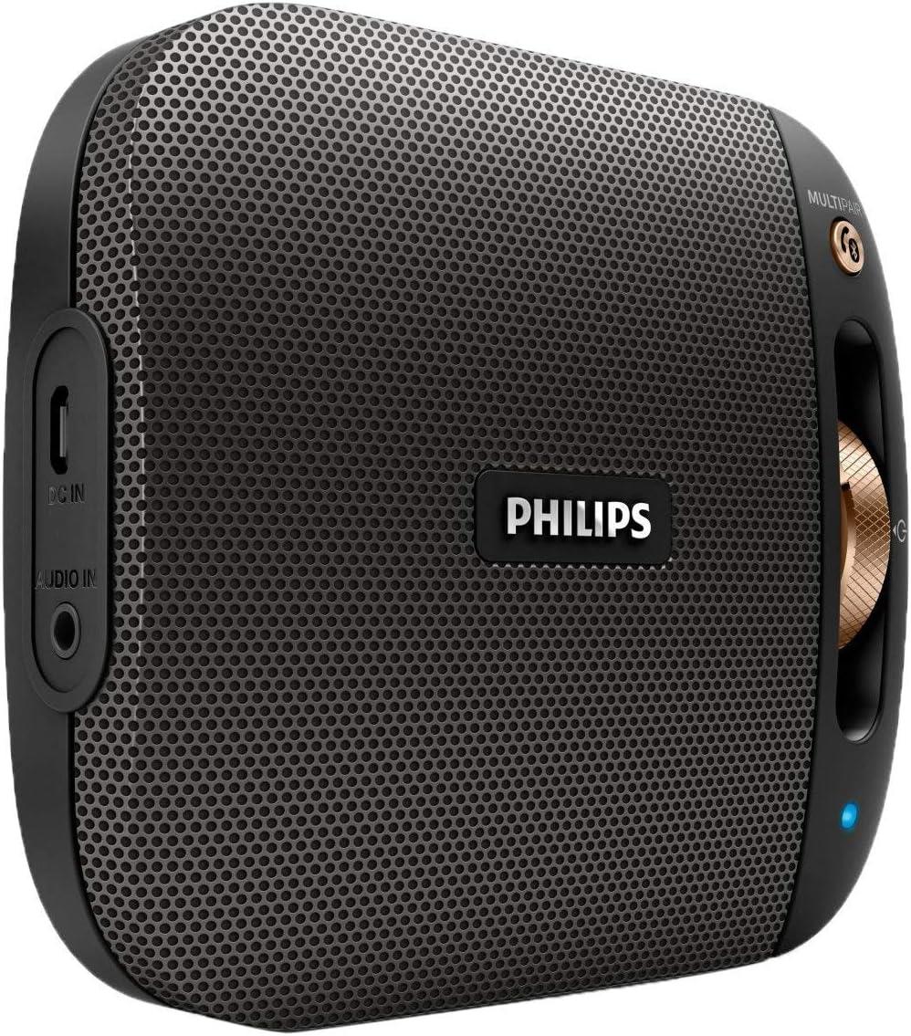 Philips BT2650B/00 Altavoz portátil 4 W Mono Portable Speaker Negro, Bronce - Altavoces portátiles (1.0 Canales, De 1 vía, 3,81 cm, 4 W, 300 mV, Inalámbrico y alámbrico)