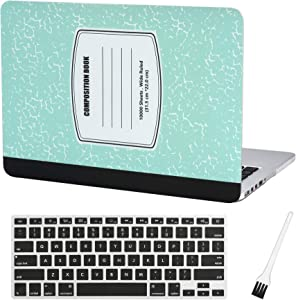 MacBook Pro 13 inch Case Cover A1502 A1425 Plastic Laptop Hard Shell Cover Sleeve Matte Rubberized (2012 2013 2014 2015 Release) with Silicone Keyboad Cover and Dust Brush-Turquoise Notebook