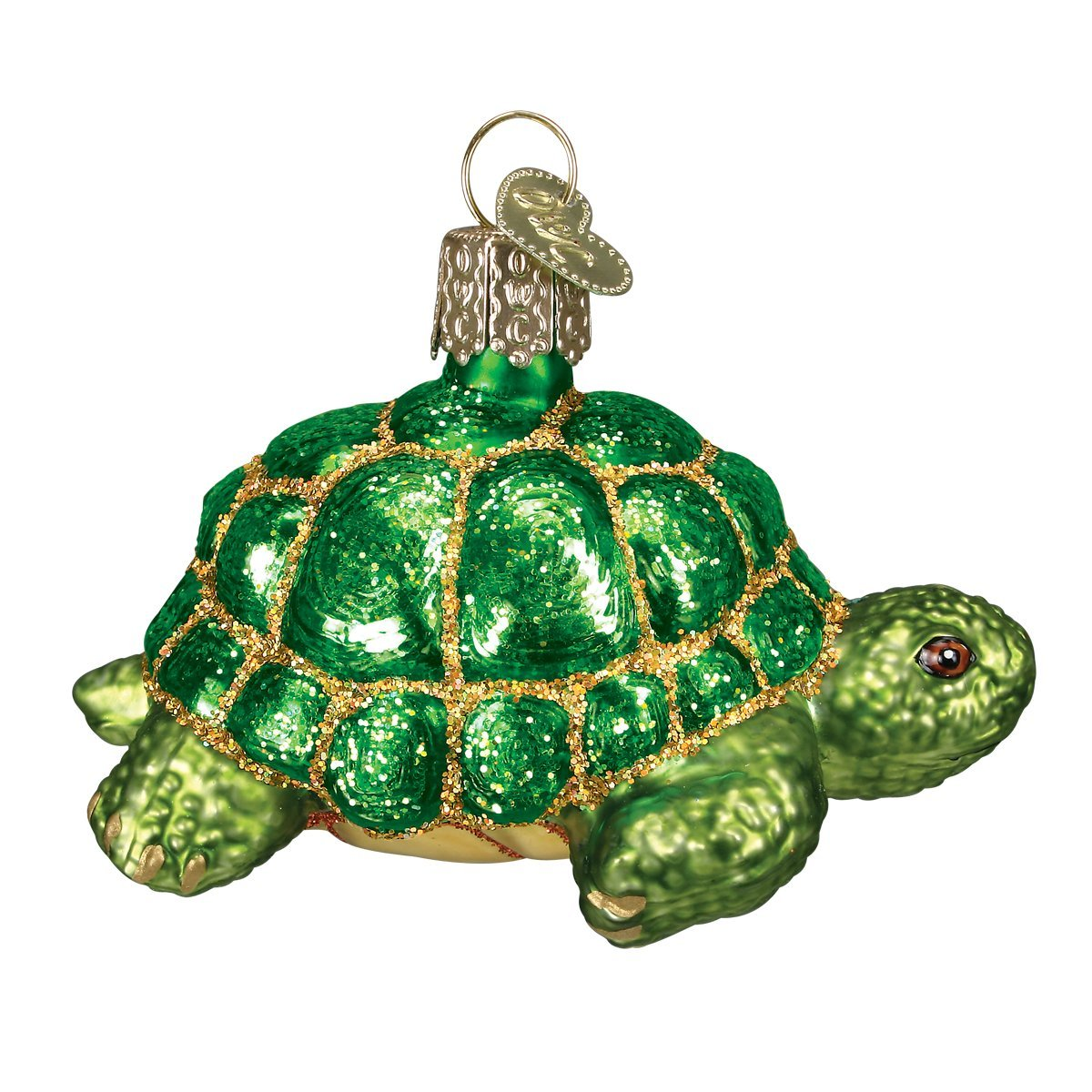 Amazon.com: Old World Christmas Desert Tortoise Glass Blown ...
