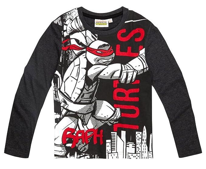Tortues Ninja - Camiseta de manga larga - para niño gris 9 ...
