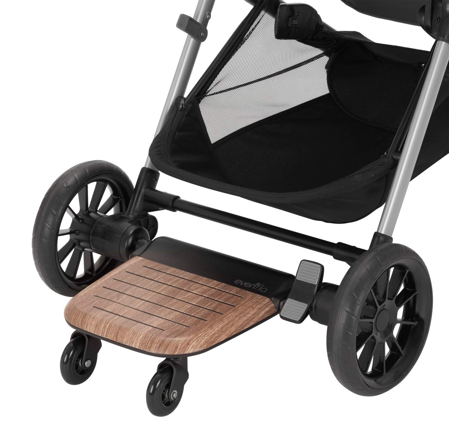 Evenflo Stroller Rider Board, Convenient Riding Options, Non-Skid Surface, Smooth-Ride Wheels, Easy to Use, Holds up to 50 Pounds, No Additional Parts Needed by Evenflo (Image #5)