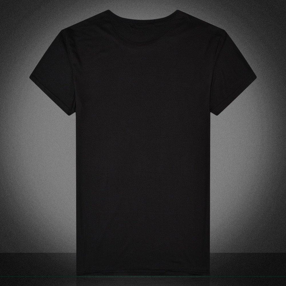 Maglietta da Uomo a Maniche Corte con Stampa Teschio Celucke Stile Casual