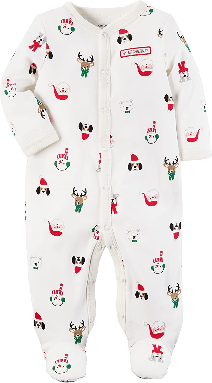 Carters Baby Boys Santa Thermal Snap up Sleep and Play