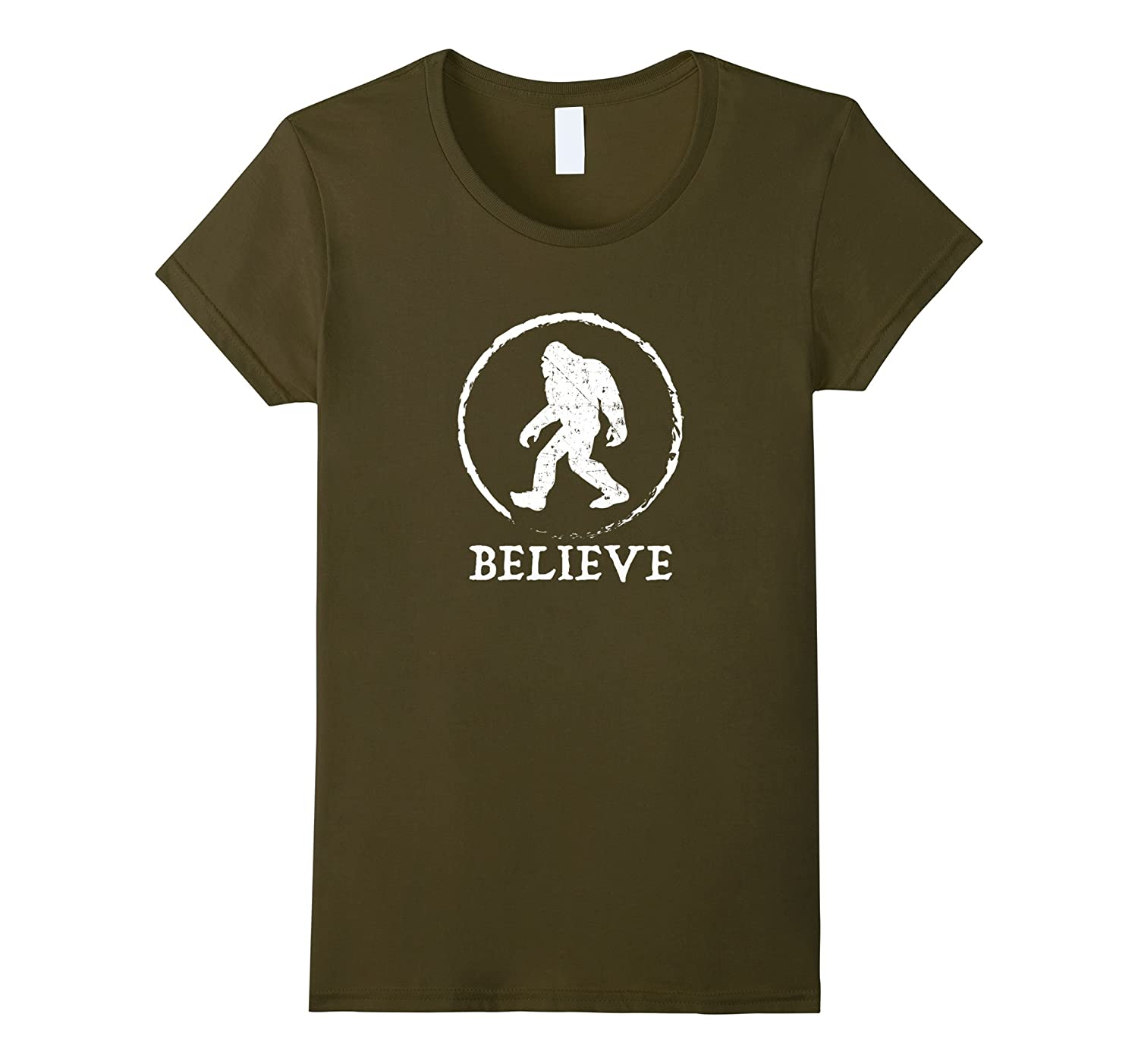 Bigfoot Believe Funny Shirt Asphalt-Tovacu
