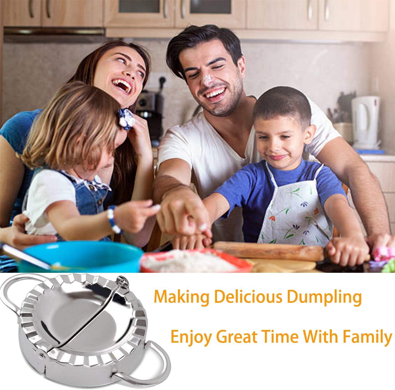 Stainless Steel Dumpling Mold Empanada Press Pie Ravioli Dumpling Wrappers Maker Set Dumplings Maker Dough Wrapper Pastry Tools /& Kitchen Accessories Large Size 3.74//9.5cm
