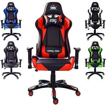 Amazonde Midori Gaming Stuhl Bürostuhl Chefsessel Drehstuhl