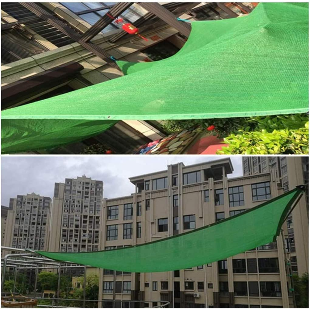 WWYM 6-pin Green Sun Shade Sail, UV Resistant Net 85% Shade Netting Cloth, for Garden Patio Yard Outdoor Facility and Activities,66m
