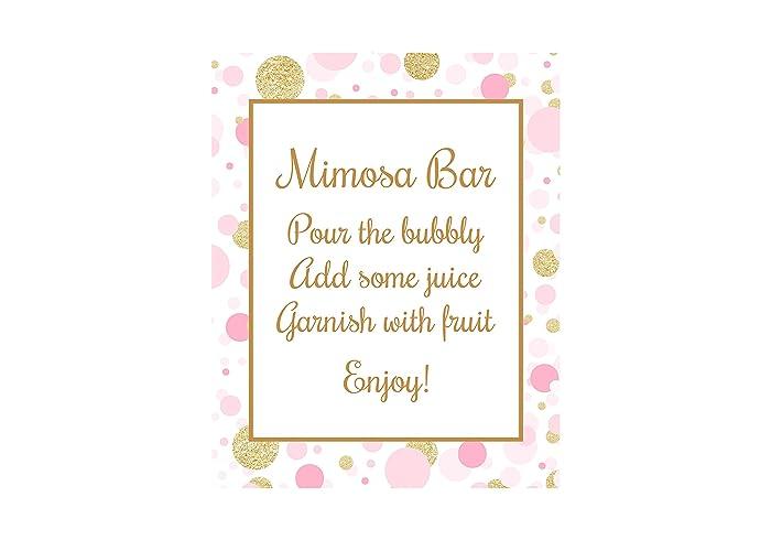 Amazon Mimosa Bar Sign Champagne Bar Sign Bridal Shower Sign