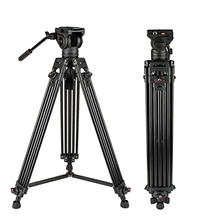 265f43818 Video Tripod System, Cayer BV30L 72 inch- Professional Heavy Duty Aluminum  Twin Tube Tripod