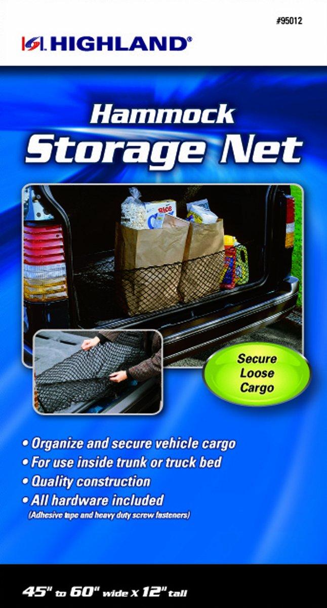 Highland 95012 Black Hammock Style Storage Net