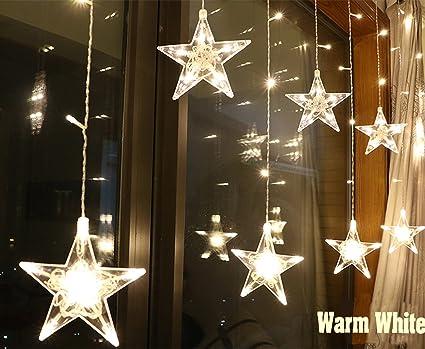 Amazon.com: kiseng LED intermitente Star Cadena luces de ...