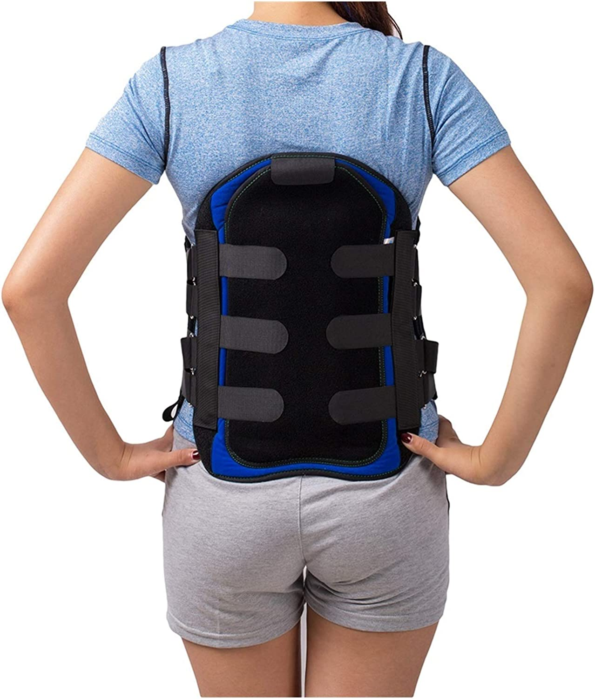 Corsé lumbar lumbar sacro corsé lumbosacro de apoyo para ortesis espinal, cinturón de apoyo para aliviar el dolor de cintura para hombres y mujeres (tamaño mediano)