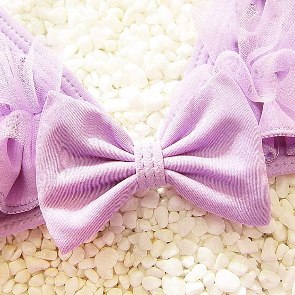 3pcs Kids Girls Swimsuit-Waymine Strap Ruffle Tops+Shorts+Hat Swimwear Bathing Suit