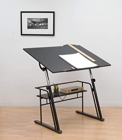 Amazoncom STUDIO DESIGNS Zenith Drafting Table In Black - Drafting table standing desk