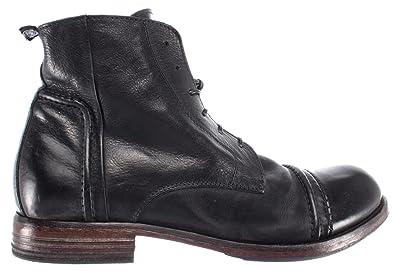 62020d60b155 MOMA Herren Stiefel Boot Schuhe 64702-R2 Pelle Leder Schwarz Vintage Made  Italy