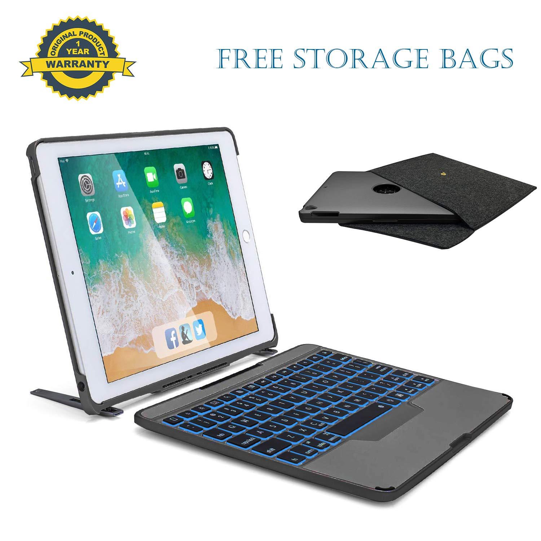 上品なスタイル iPadキーボードケース 9.7インチ取り外し可能なワイヤレスBluetoothキーボード バックライト付き - B07N64ZB3W 取り外し可能なBT4.0キーボードケース Apple Apple iPad Pro 第6世代 第5世代 Air 2 Pro 9.7用 - スタンド付きiPadケース (スペースグレー) B07N64ZB3W, リサイクルモールみっけ:f9ae02e8 --- senas.4x4.lt