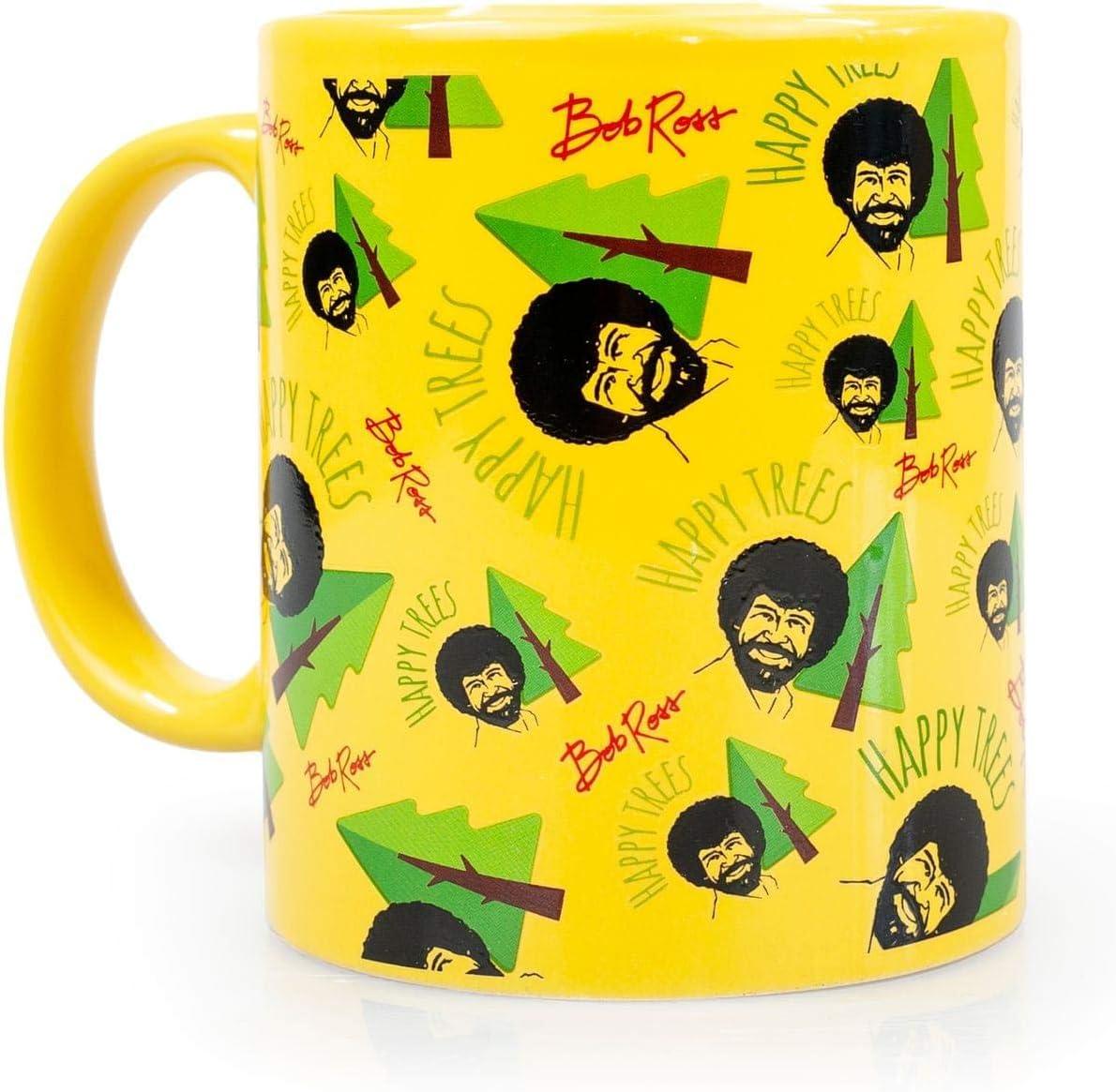 Bob Ross Collectibles | Bob Ross Happy Trees Mug | Yellow