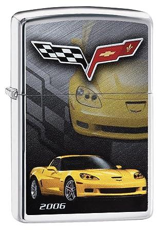 Zippo Corvette 2006 Mechero de Gasolina, latón, Aspecto de Acero Inoxidable, 1 x 6 x 6 cm: Amazon.es: Hogar