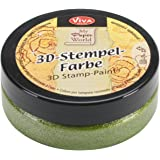 Viva Decor 3D Stamp Metallic Paint, 50ml, Grass Green