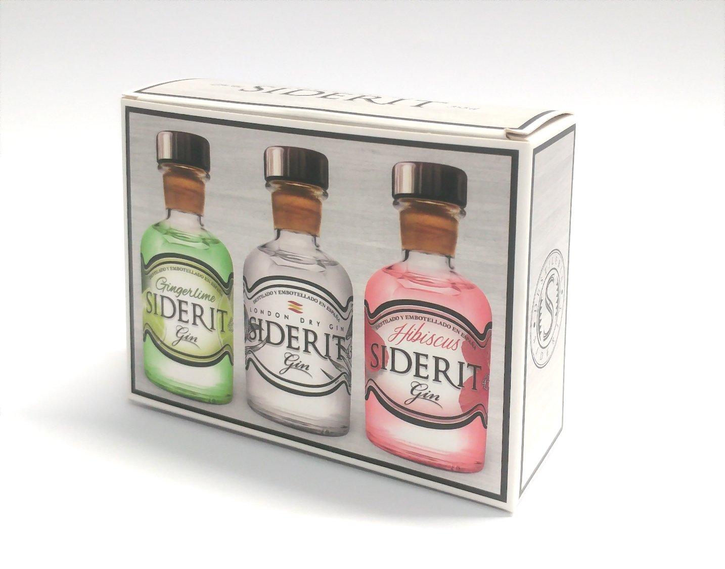 Estuche Mix 3 gin variadas 5cl Siderit: Amazon.es ...