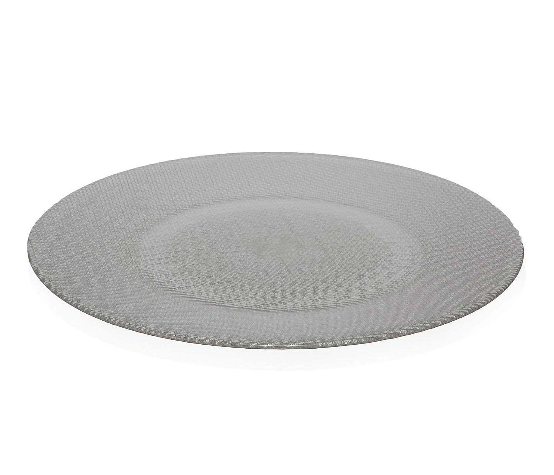 2/Assiettes de Pr/ésentation 31/cm en verre Inca/ /Transparent