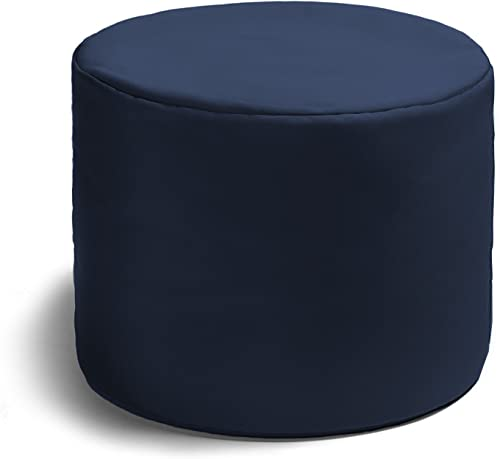 Jaxx Spring Indoor Outdoor Bean Bag Ottoman, Navy