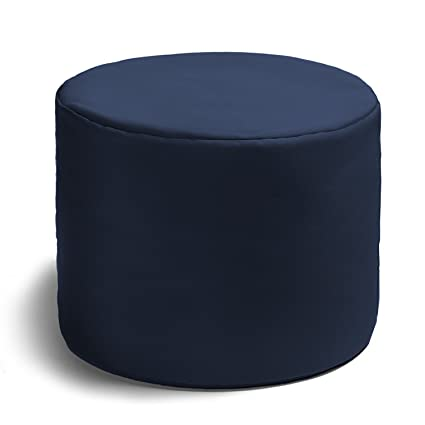 Charmant Jaxx Spring Indoor/Outdoor Bean Bag Ottoman, Navy
