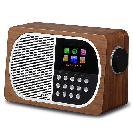 Amazon.com: LEMEGA M2+ Mesa Smart Radio con Wi-Fi, Internet ...