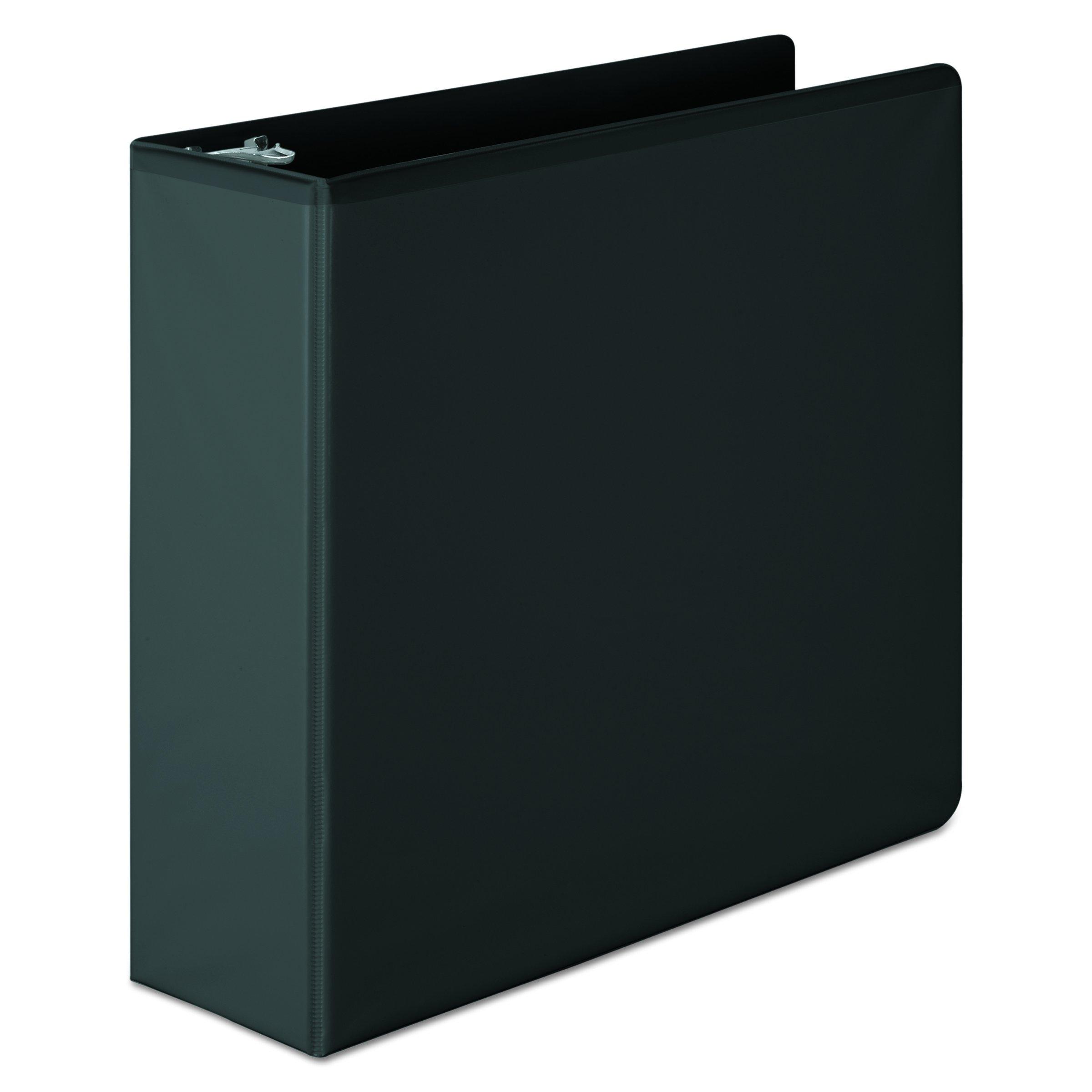 Wilson Jones 3 Inch 3 Ring Binder, Basic D-Ring View Binder, Black (W386-49BA)
